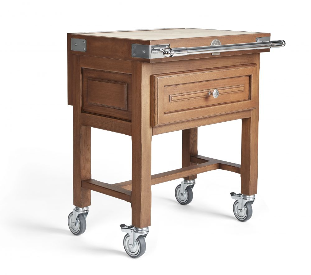 La Cornue - Oak Butcher Block Cart